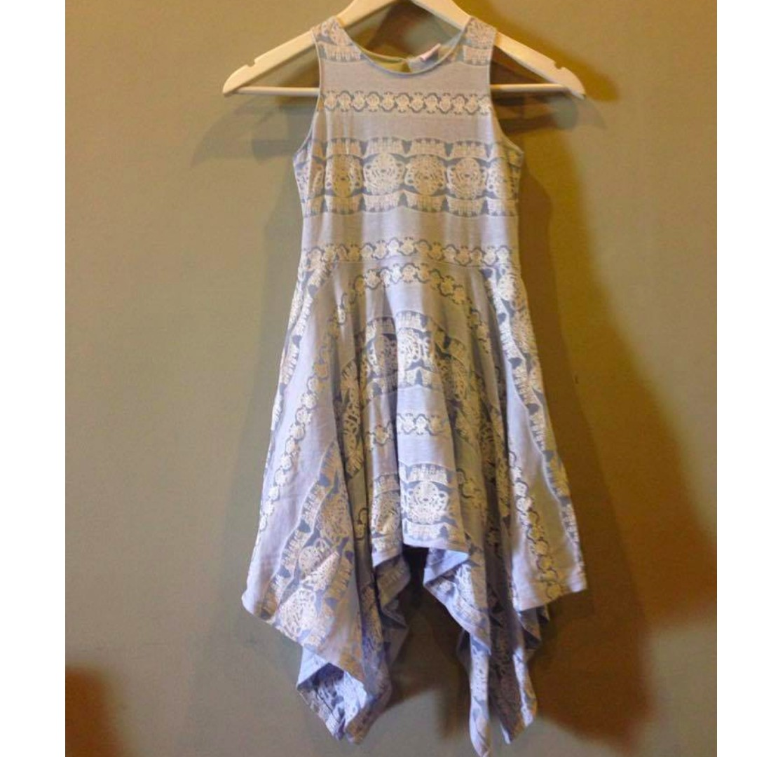 Little Miss Blue Handkerchief Dress