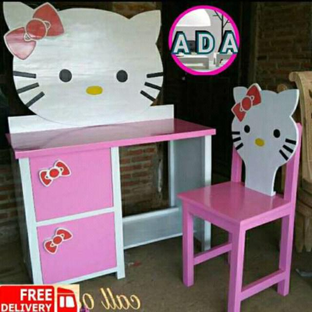 Meja Belajar Hello Kitty 024 Home Furniture On Carousell