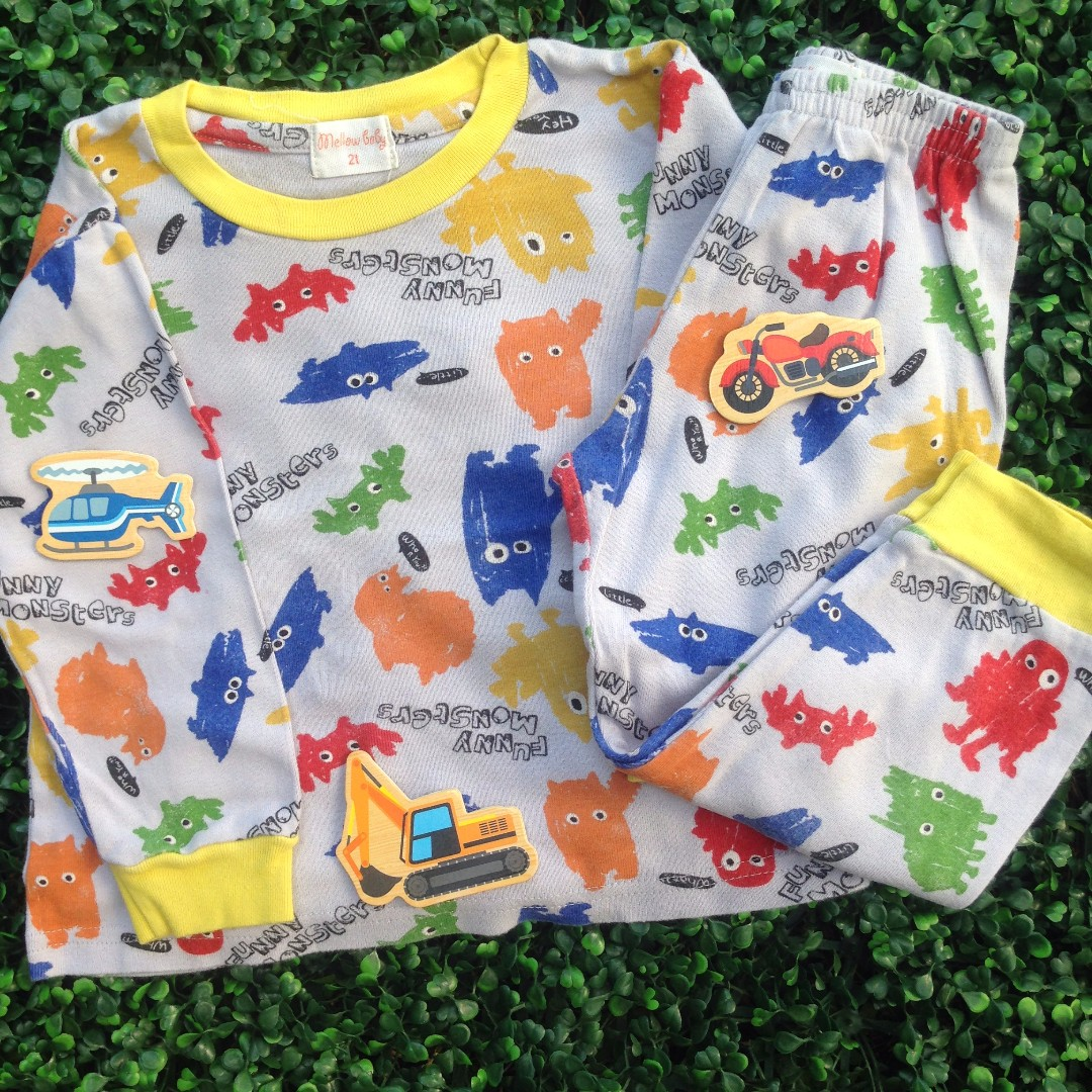 MELLOW BABY (Funny Monsters) Pyjamas