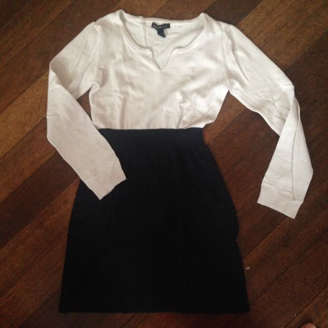 MNG basics white/black dress