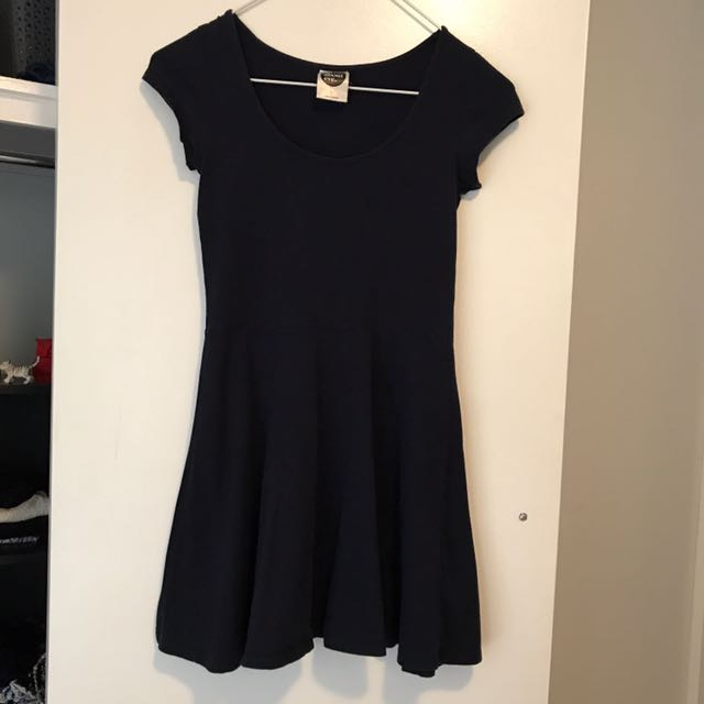 Navy Tshirt Skater Dress