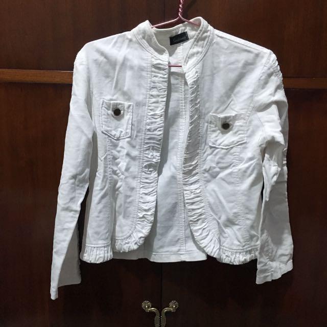 Outer (jaket) Putih Bahan Jeans