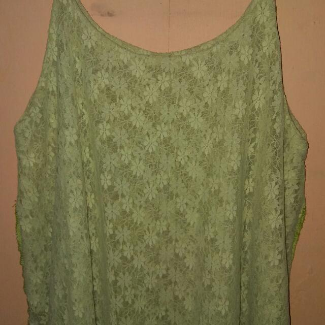 Pastel Green Lace Sleeveless