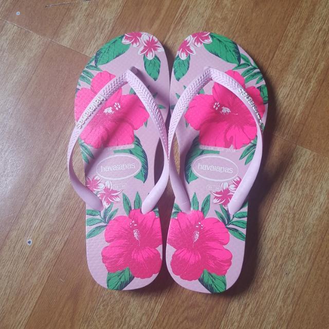 Pink Floral Havaianas Slim (Rush)