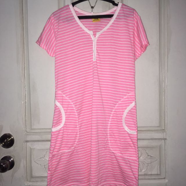 Pink striped dress