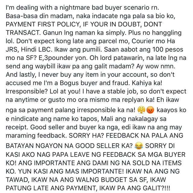 READ BUYERS‼️READ THIS CARINA AVELLANO‼️