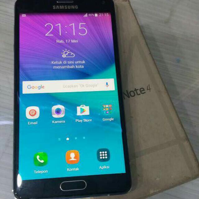 Samsung Galaxy Note 4 Sein Mulus Bisa Tukar Tambah Elektronik