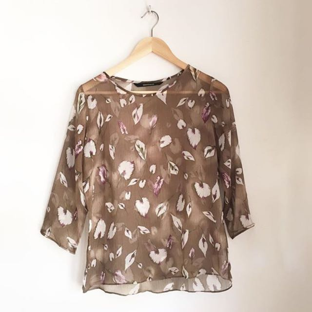 SHOPATVELVET SHEER TOP