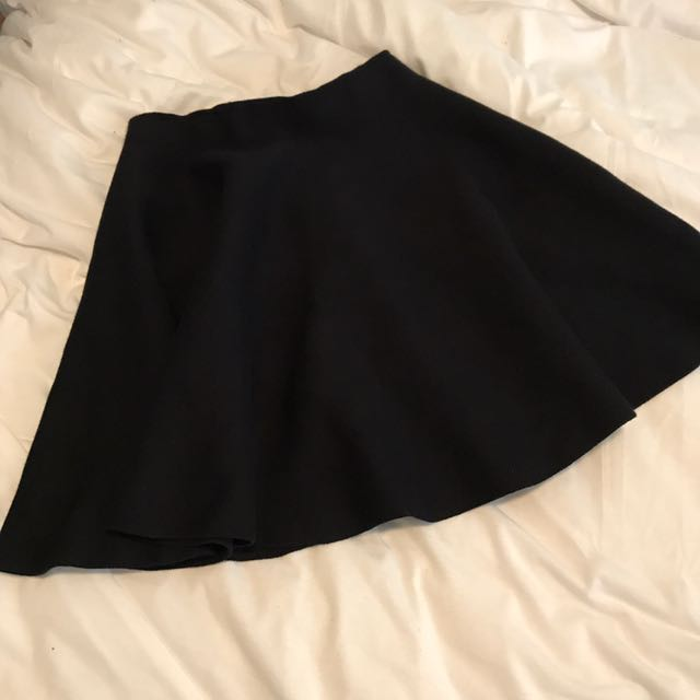 Showpo Black Knit Skater Skirt