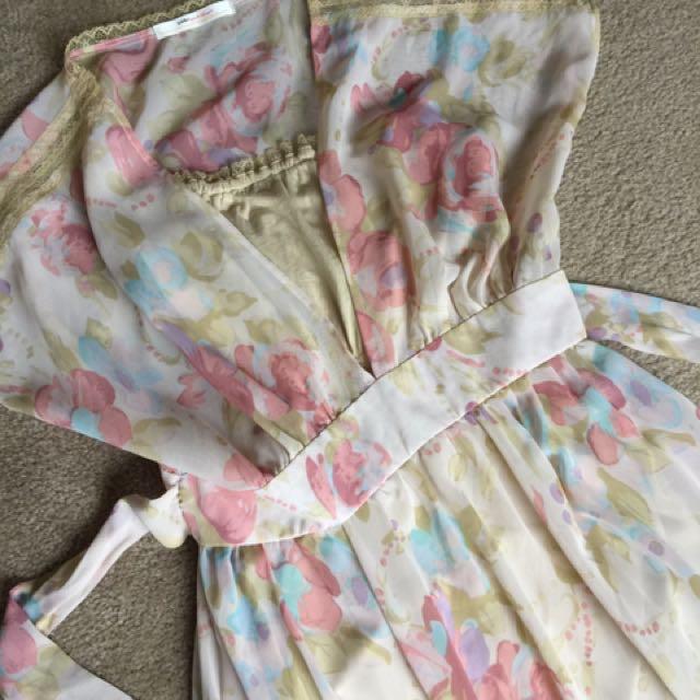 Snidel Floral Maxi Dress sz S