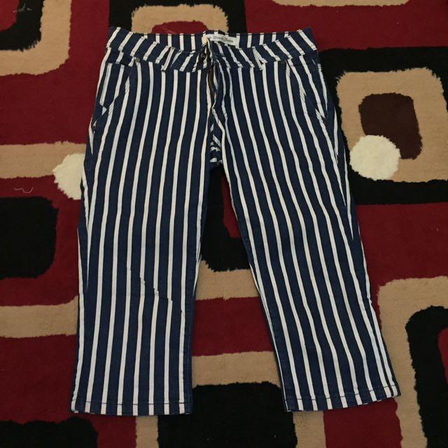 Striped Blue Jeans