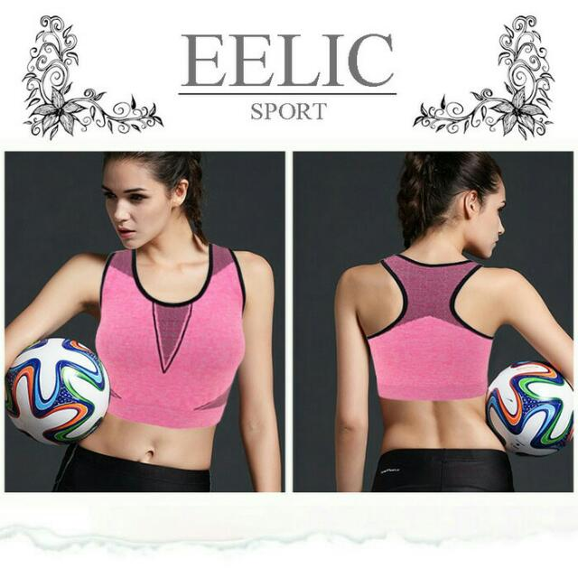 Tank Top Yoga Bra Sports Pink Hitam