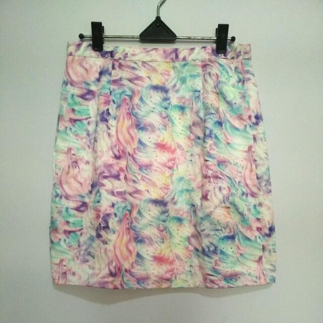 Unicorn Mini Skirt - Preloved
