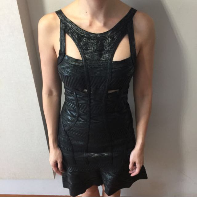 Very Sexy Black Bandage Dress