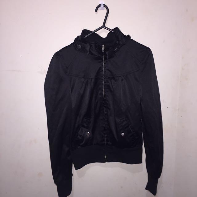 Vintage Black Bomber Jacket