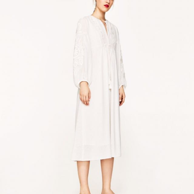 ZARA Embroidered Dress - Sz S