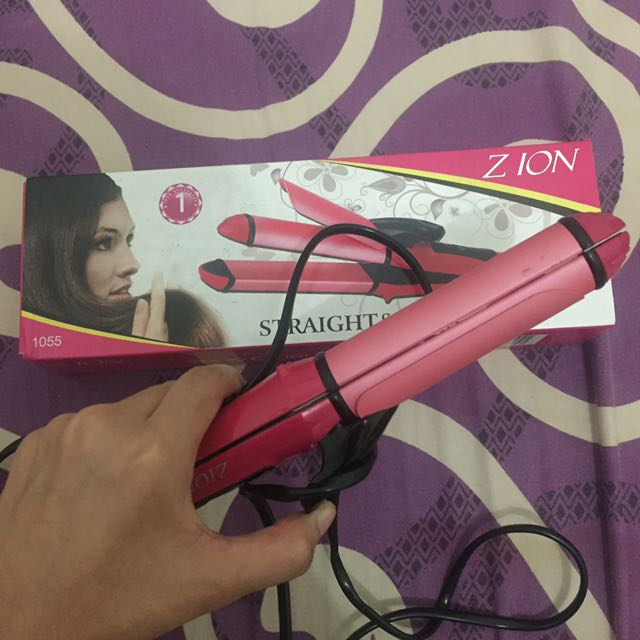 ZION STRAIGHT & CURLY IRON (2 in 1)