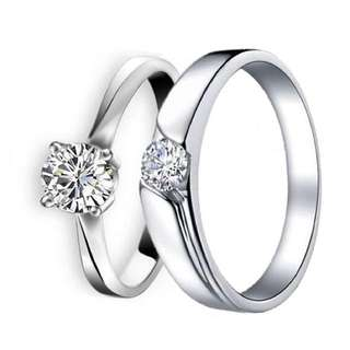 925 Genuine Silver Couple Ring C54