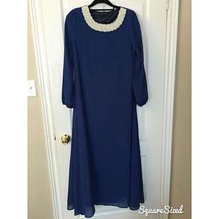 ROYAL BLUE KAFTAN DRESS