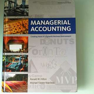 Managerial Accounting By Hilton and Favere-Marchesi