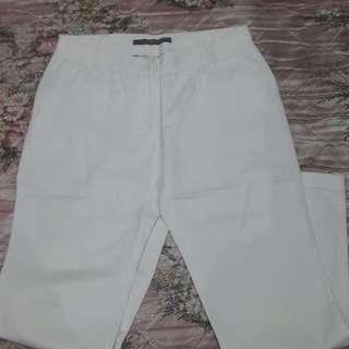 Celana Panjang Putih Zara Basic
