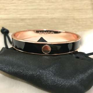 Authentic MIMCO Rose Gold & Black Bangle Cuff Fashion Trend