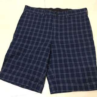 GU 格紋 格子 休閒 短褲