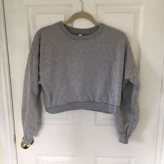 American Apparel Cropped Fleece Pullover