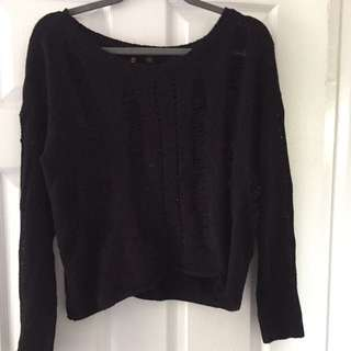 GUESS black Distressed Sweater