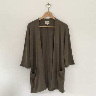Soft Green Jersey Cardigan / Size XS / Brand: Wilfred Free (Aritzia)