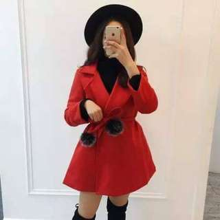 Winter Red Coat Sz6-8