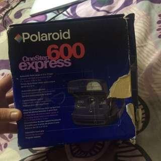 Blue Polaroid 600 Camera