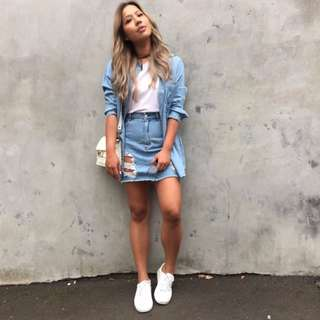 Miss Shop Denim Mini Skirt