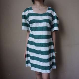 Green Strip Dress