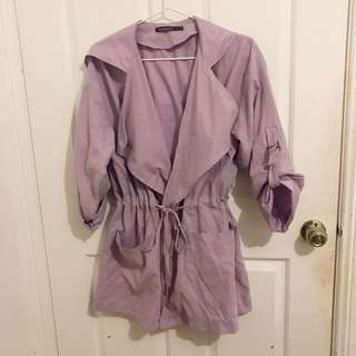LILAC TRENCH-COAT