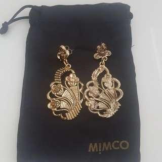 Mimco Gold Chandelier Earrings