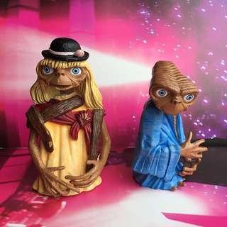 🔮正版老貨環球電影外星人E.T公仔模型