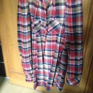 Checkered Long Sleeves Polo