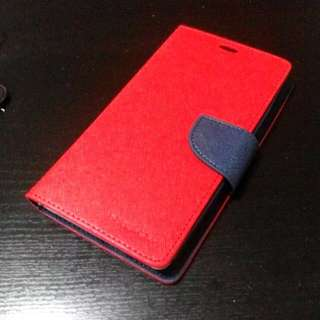 🆒 Redmi Note 3G/4G/2 Leather Cover (Red/Navy)