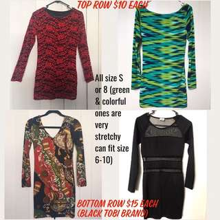Dresses - Bodycon Long Sleeves