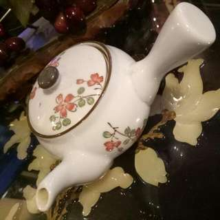 Vintage Chinese Teapot With Filter  Hand Painted