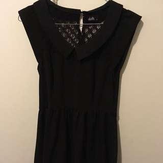Black Dotti Dress Size 8