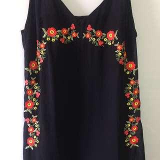 Floral Fringe Dress