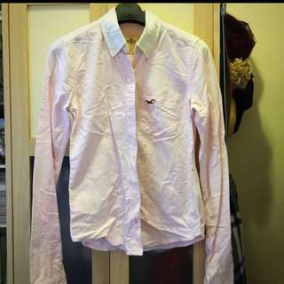 Hollister Pink Stripe Shirt 粉紅間條恤衫