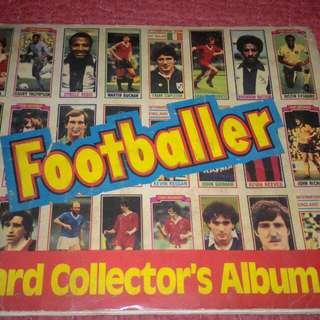 Footballer Card Collectors Album Book