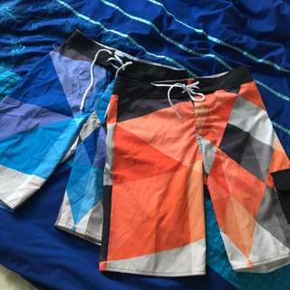 2x Men's Board Shorts - Size 30