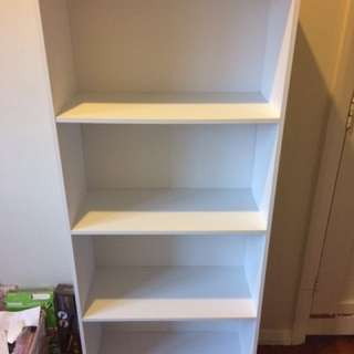 4 Tier Bookshelf White