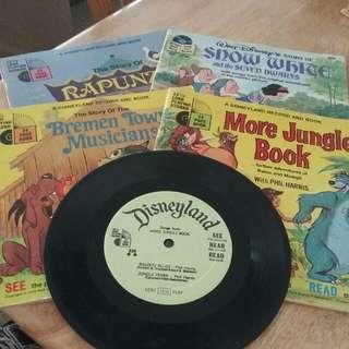 4 X Disneyland Record And Books .
