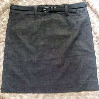 Formal Skirt Dark Grey