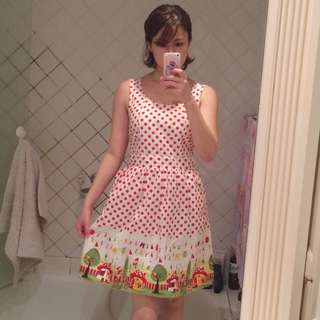Madame Pompadour Red Dotted Dress